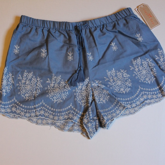 195601f6358b Copper Key Shorts | Embroidered Chambray Soft Large | Poshmark